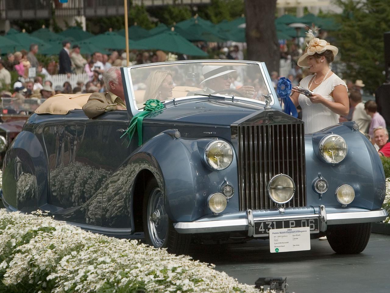1948 Rolls-Royce Silver Wraith Franay Cabriolet. 1st RR Postwar Custom Coachwork.  Frank and Milli Ricciardelli.