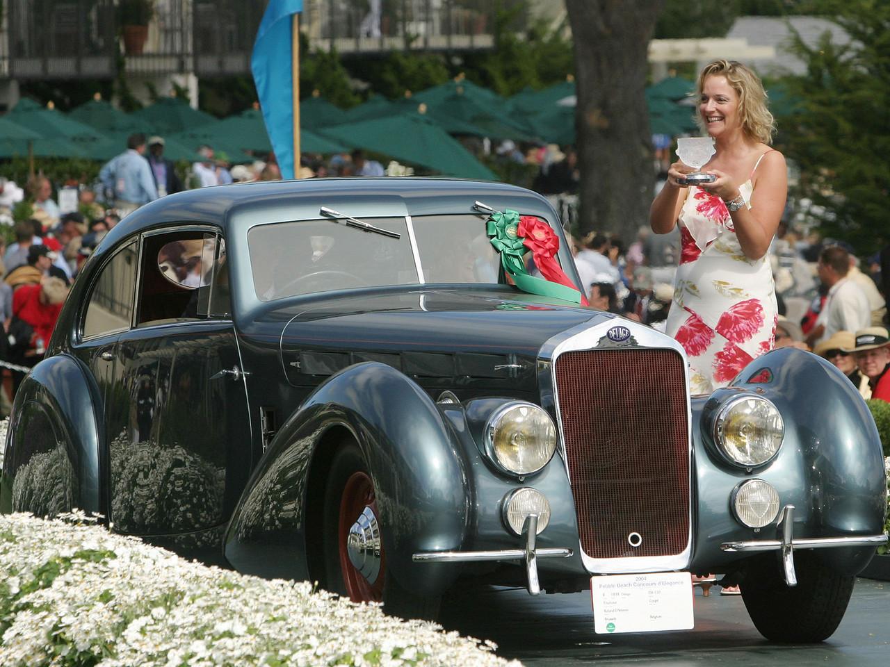 1938 Delage D8-120 Pourtout Coupé  2nd Georges Paulin and Peugeot Design.  Roland D'Ieteren