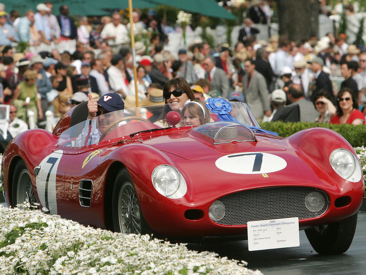 1959 Ferrari TR59 Fantuzzi Spyder. 1st Ferrari Major Race Winners.  John and Gwenn McCaw.