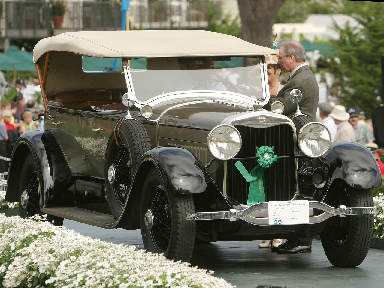 1928 Lincoln L Locke Sport Phaeton.  Lincoln Trophy.