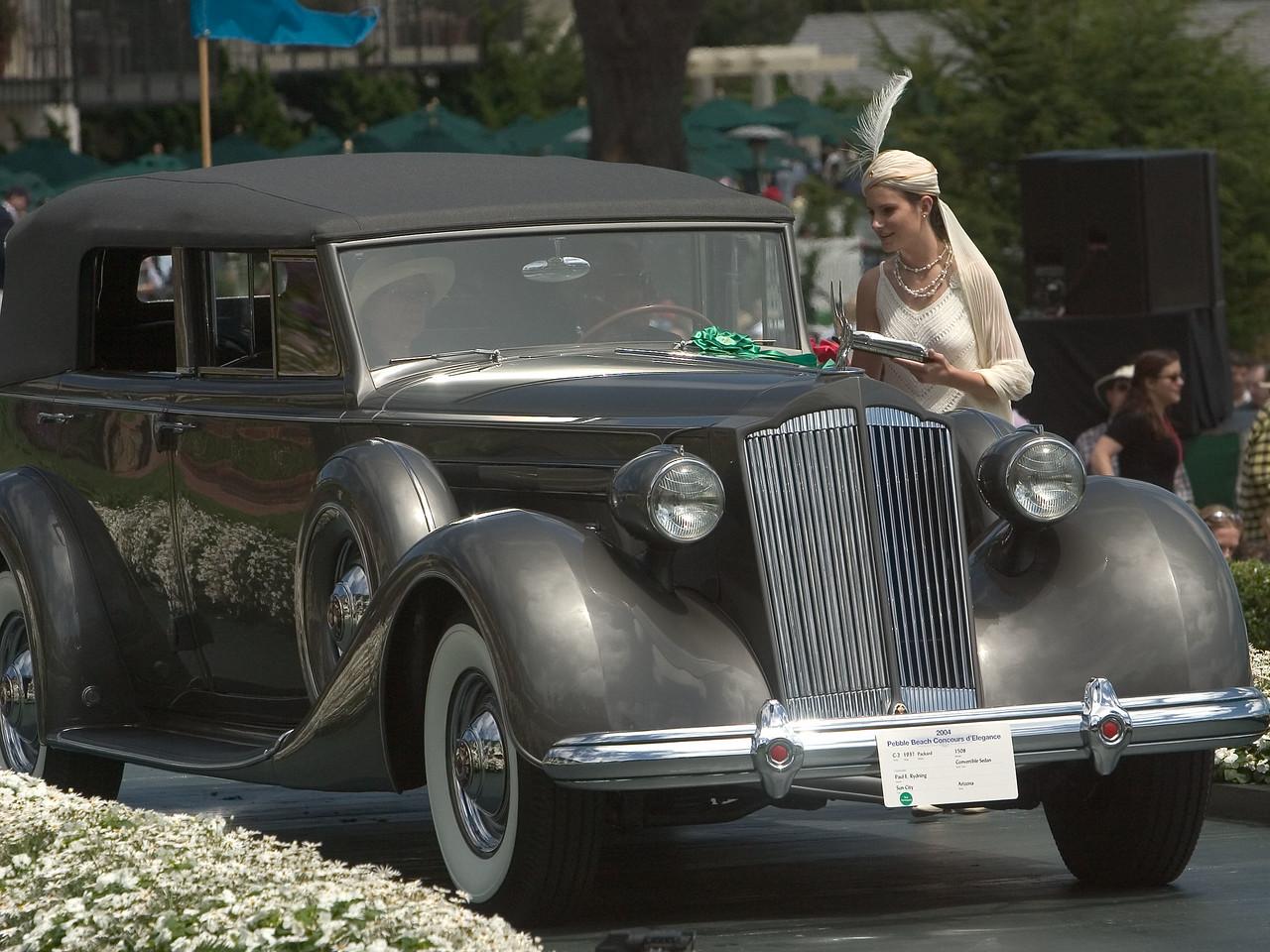 1937 Packard 1508 Convertible Sedan. 2nd Packard 1925-40 Open. Paul Rydning.