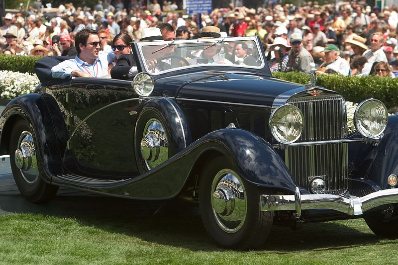 1935 Hispano-Suiza J12 Van Vooren Cabriolet.