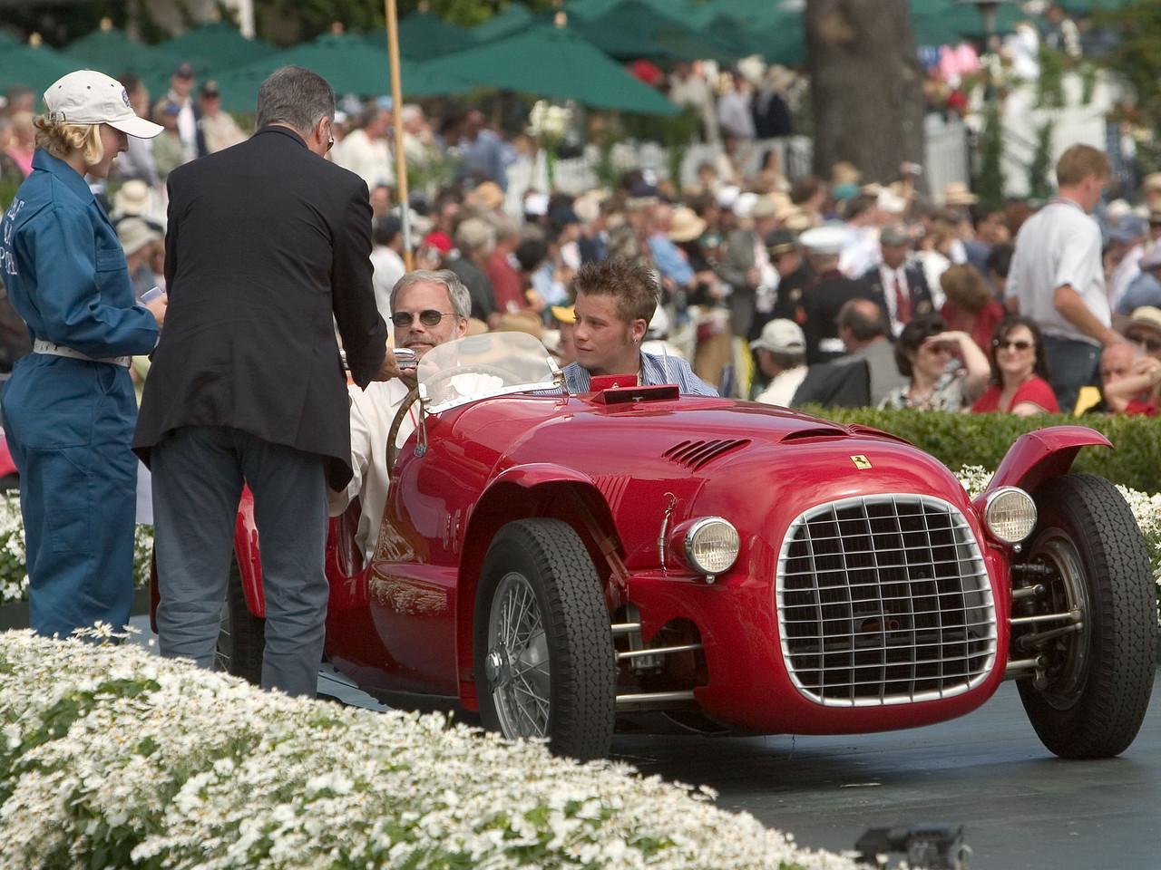 1947 Ferrari 166 Spyder Corsa. 3rd Ferrari  Open.  Jim Clark.