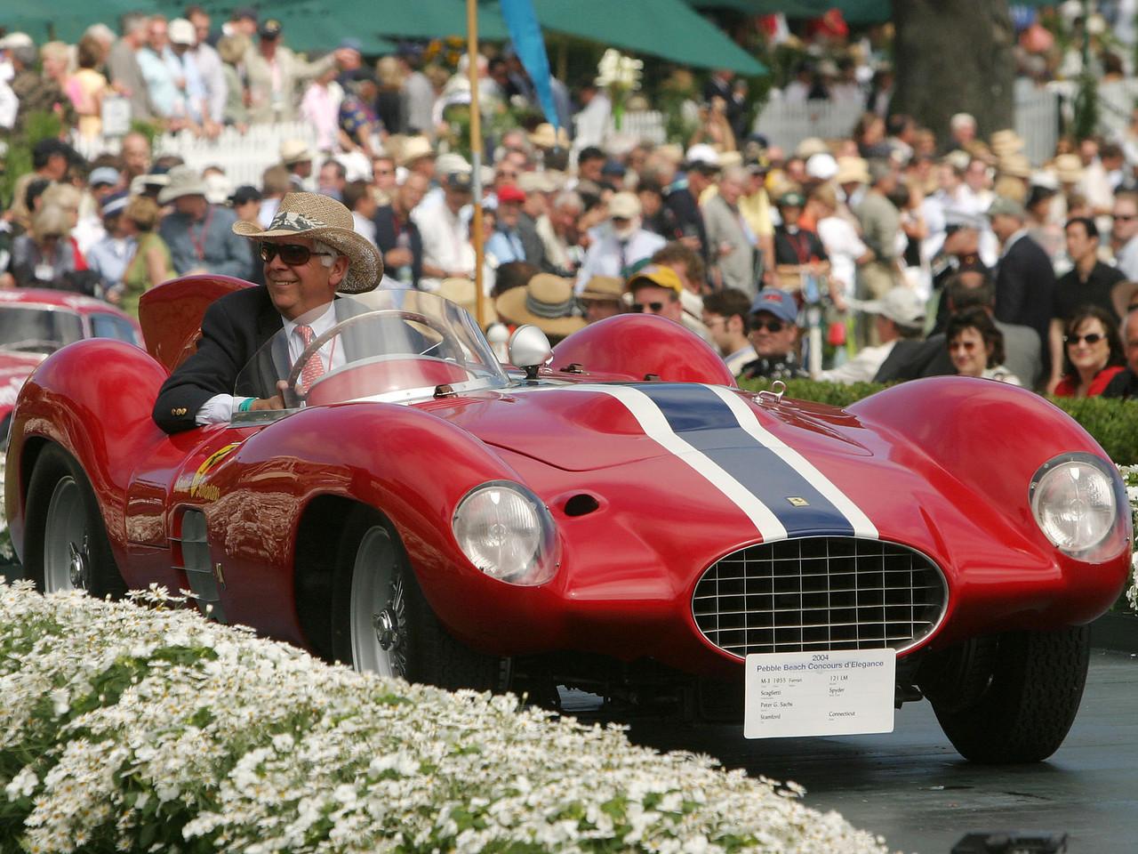 1955 Ferrari 121 LM Scaglietti Spyder. 3rd Ferrari Competition.  Peter Sachs.