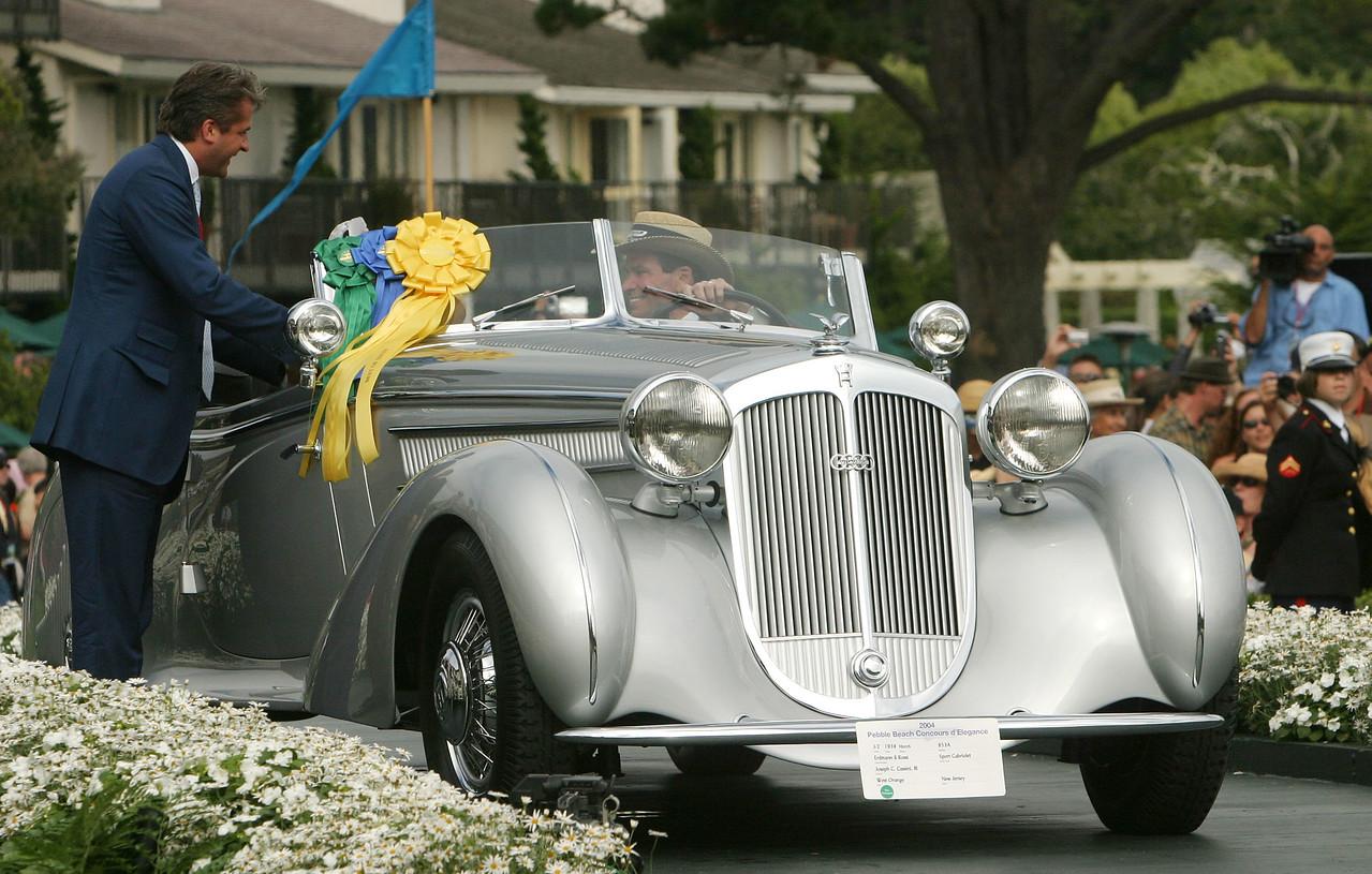 1938 Horch 853A Erdmann & Rossi Sport Cabriolet. 2004 Best of Show.  Joseph Cassini, III.