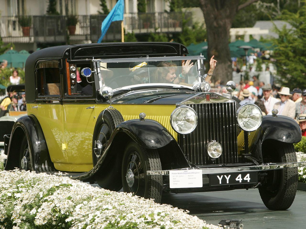 1931 Rolls-Royce Phantom II Barker Sedanca de Ville.  Lucius Beebe Trophy.  Neal Kirkham.