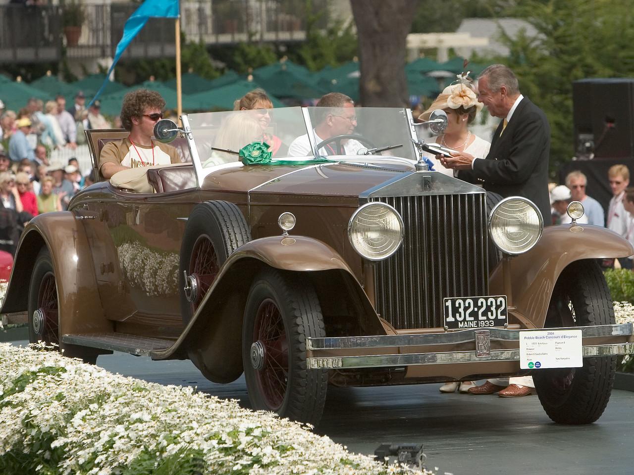 1933 Rolls-Royce Phantom II Brewster Henley. 1st Prewar Preservation.  Robert and Sandra Bahre.