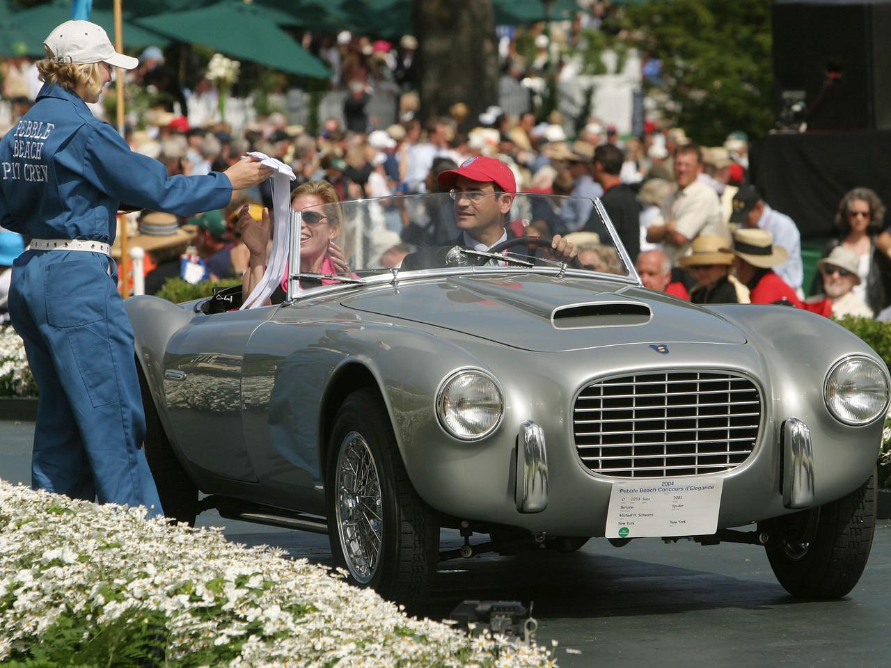 1953 Siata 208S Bertone Spyder. 3rd European Sports Postwar.  Michael H. Schwartz.