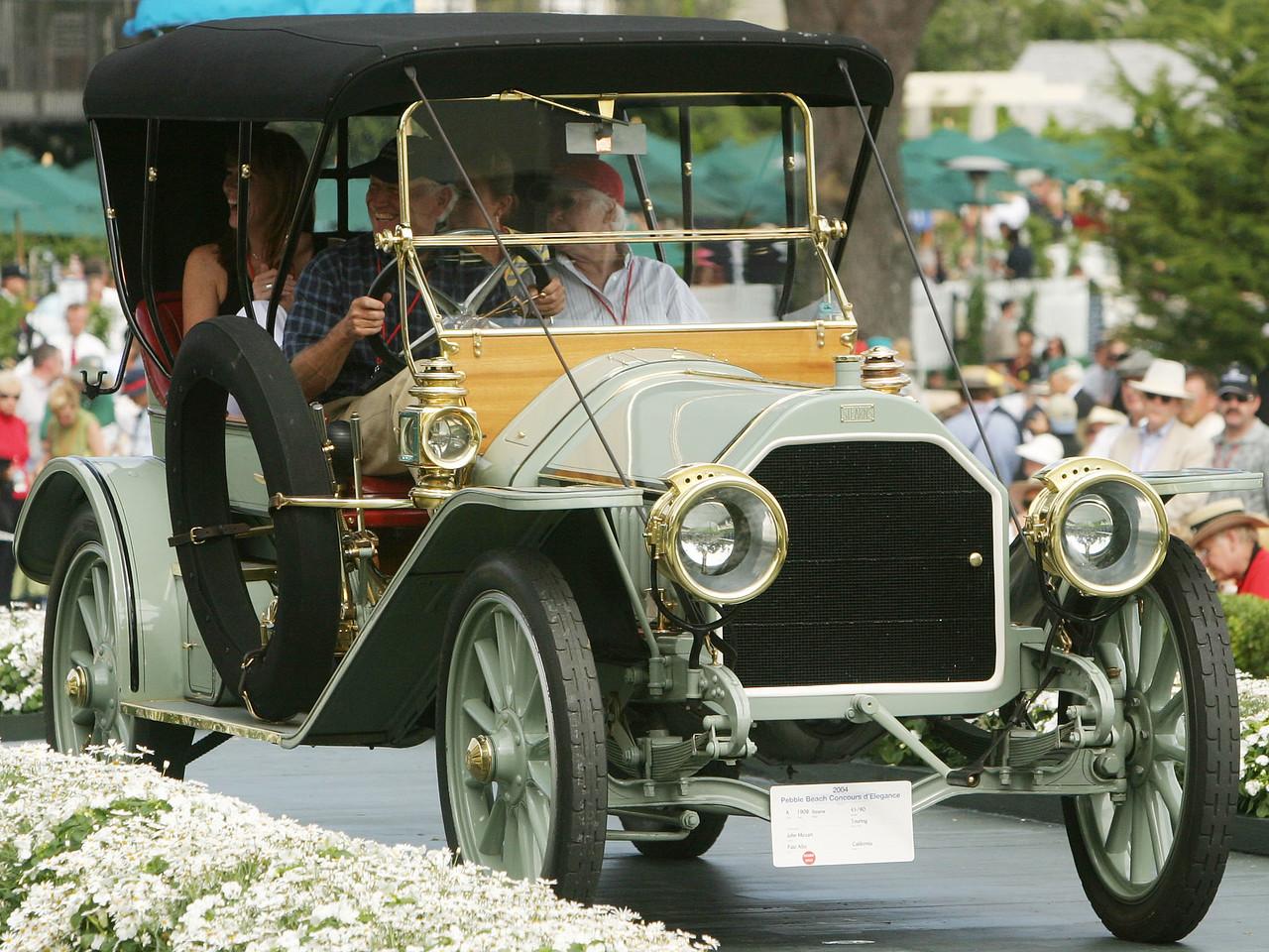 1908 Stearns 45/90 Touring.  Ansel Adams Trophy. John Mozart.