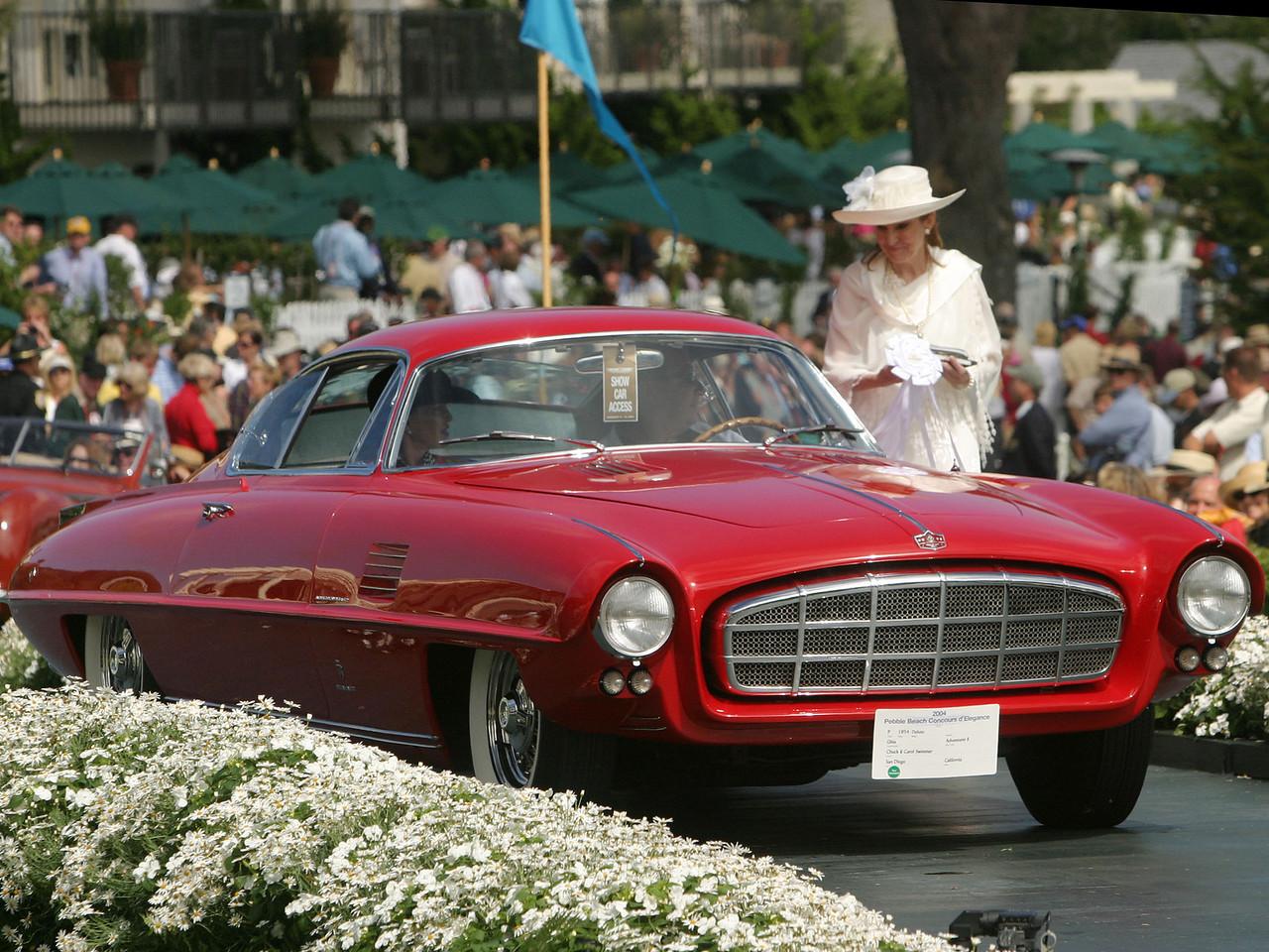 1954 DeSoto Ghia Adventurer II. 3rd Grand Touring Postwar.  Chuck and Carol Swimmer.