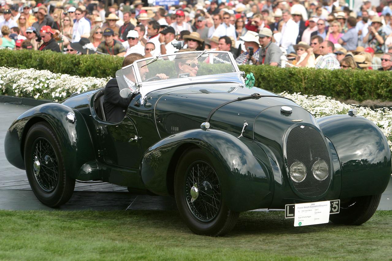 1940 Aston Martin.  Roger & Priscilla Higgins.