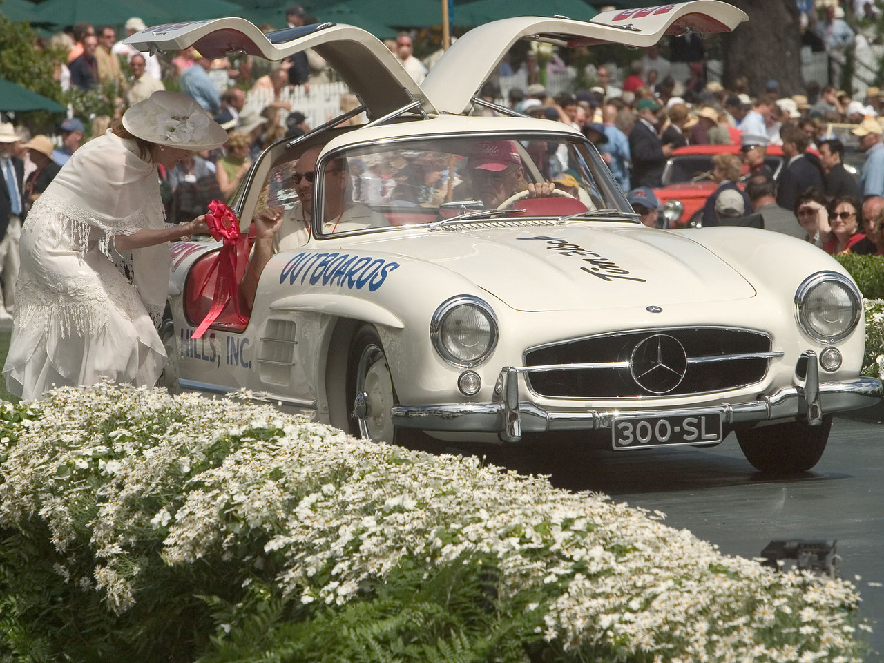 1955 Mercedes-Benz 300 SL Coupe.