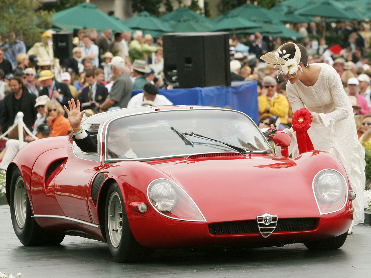 1968 Alfa Romeo Tipo 33 Stradale Coupé owned by Lawrence Auriana from Stamford, Connecticut 2nd Class E-7  (Alfa Romeo Postwar)