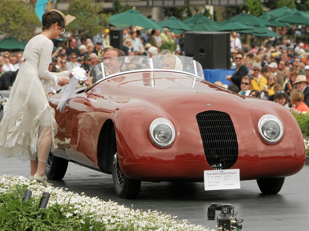 1941 Alfa Romeo 8C 2900B Spyder owned by Evert V.N. Louwman from Raamsdonksveer, The Netherlands 3rd Class E-5  (Alfa Romeo 8C 2900)