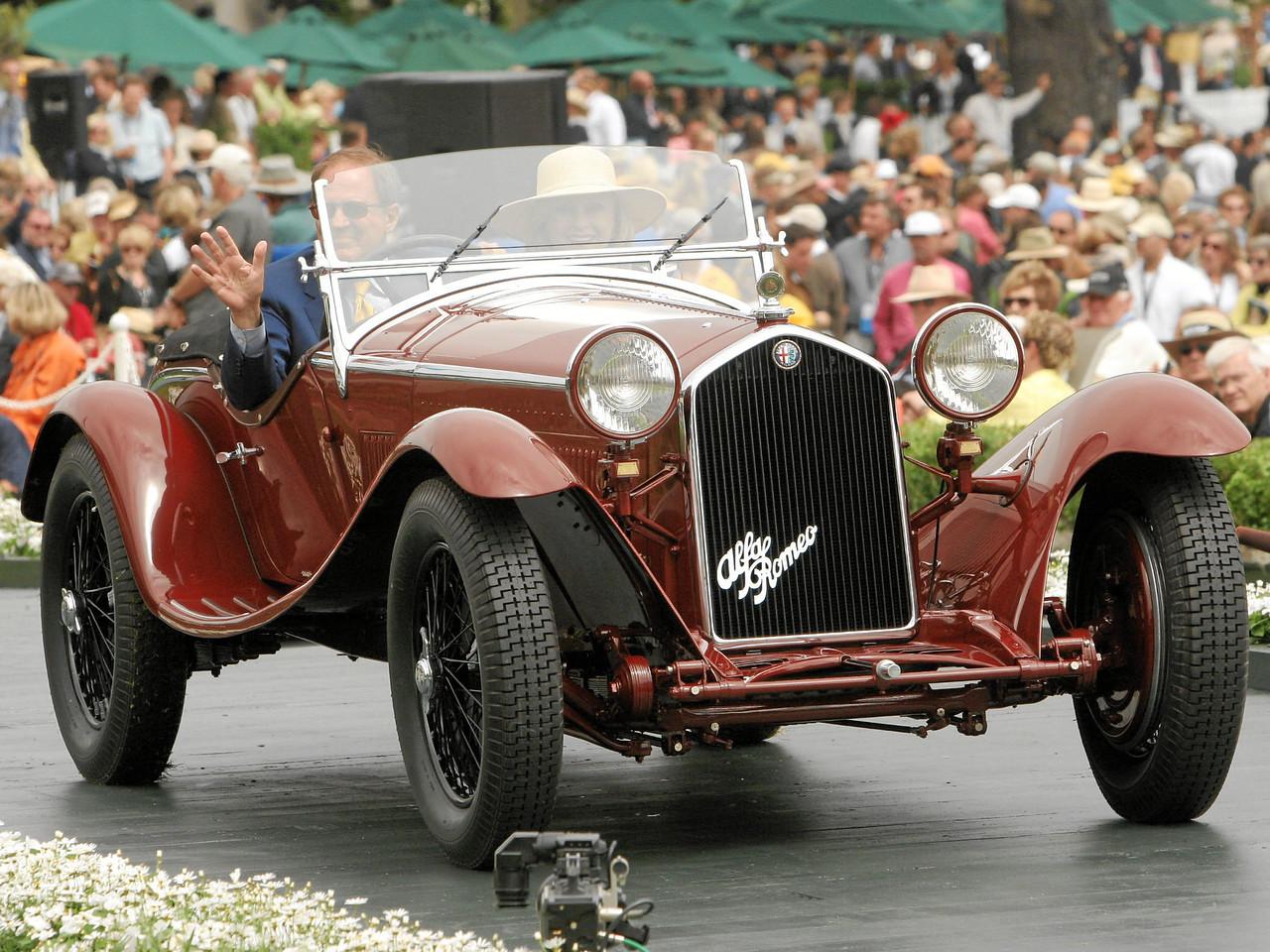 1932 Alfa Romeo 8C 2300 Zagato Spyder owned by David and Ginny Sydorick from Beverly Hills 2nd Class E-4  (Alfa Romeo 8C 2300)
