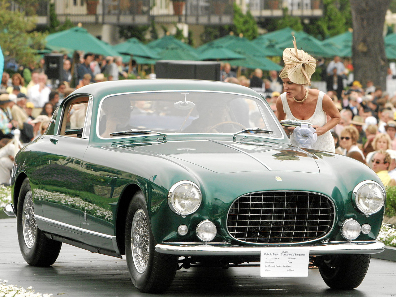 1954 Ferrari 250 Europa Pinin Farina Coupe owned by Fred Peters & Charles and Carol Betz from Orange 3rd Class M-1 (Ferrari Grand Touring)