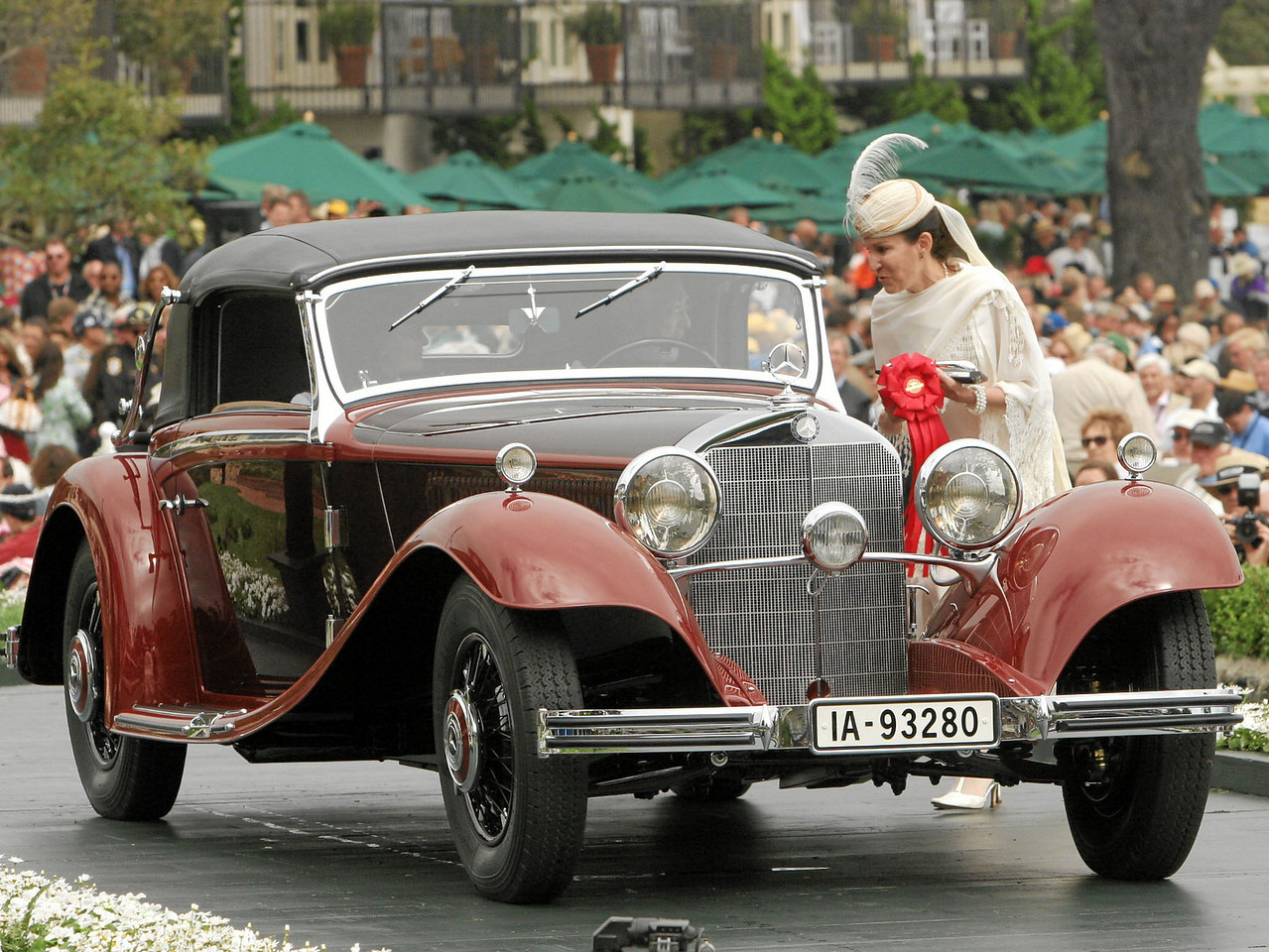 1934 Mercedes-Benz 380 Cabriolet A owned by Wolfgang Grodd from Queensland, Australia 2nd Class I (Mercedes-Benz Prewar)