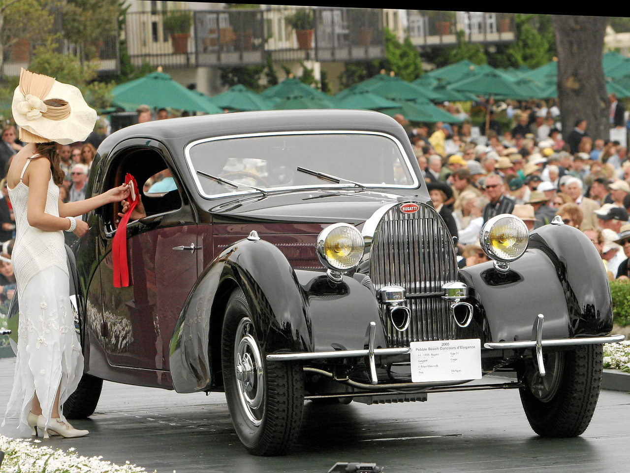 1938 Bugatti Type 57 Gangloff Coupé owned by J. Peter Ministrelli from Troy, Michigan 2nd Class J-1 (European Classic 1925-1939 Closed)
