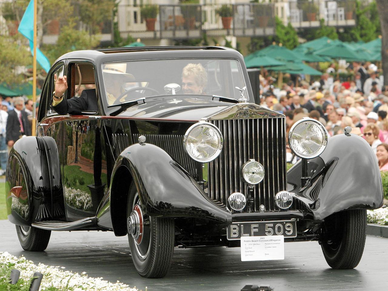 1934 Rolls-Royce Phantom II Continental Park Ward Streamline Saloon owned by Ronald Benach from Lake Forest, Illinois 1st Class H (Rolls-Royce Prewar)
