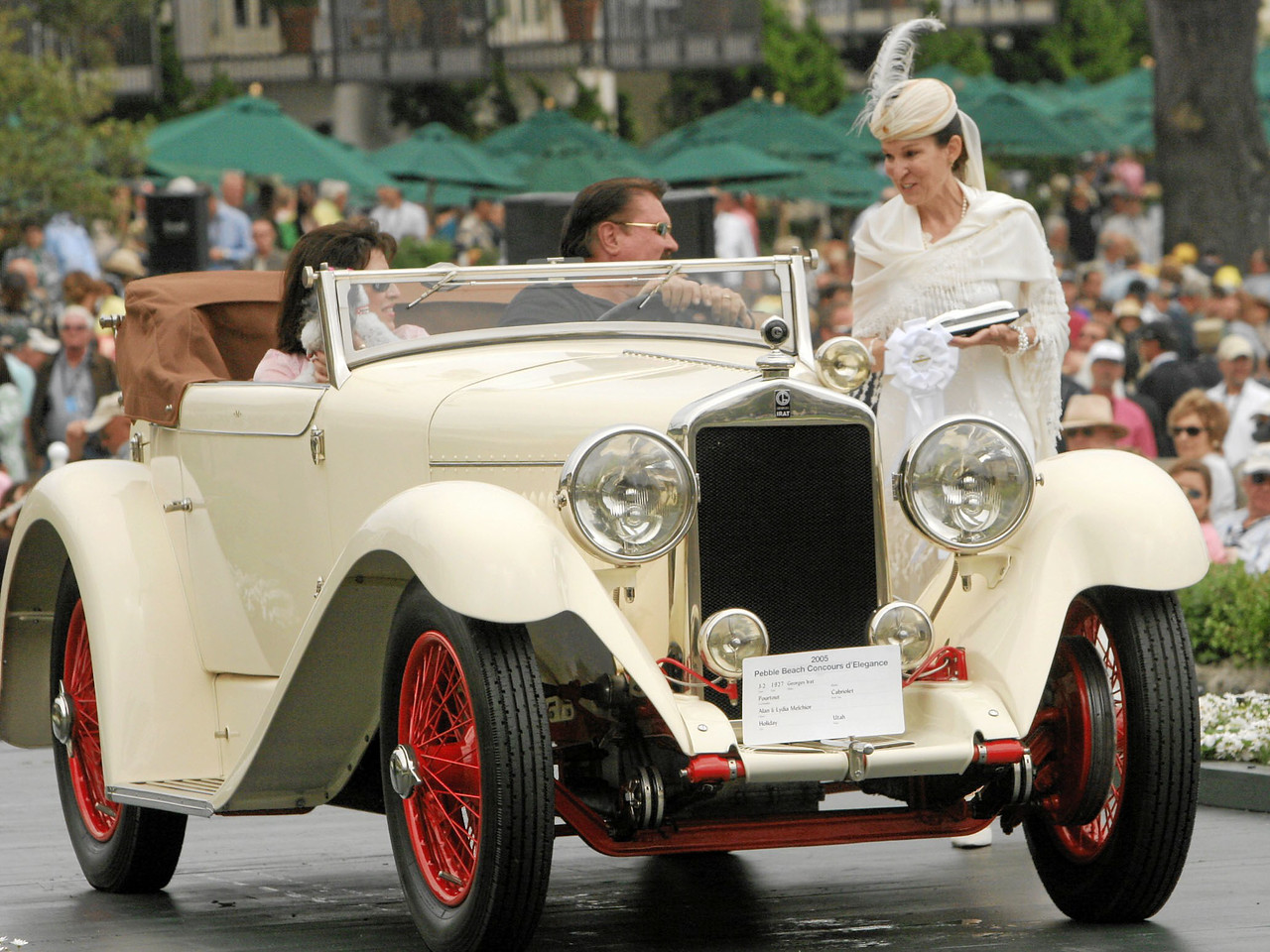 1927 Georges Irat Pourtout Cabriolet owned by Alan and Lydia Melchior from Holiday, Utah 3rd Class J-2 (European Classic 1925-1939 Open)