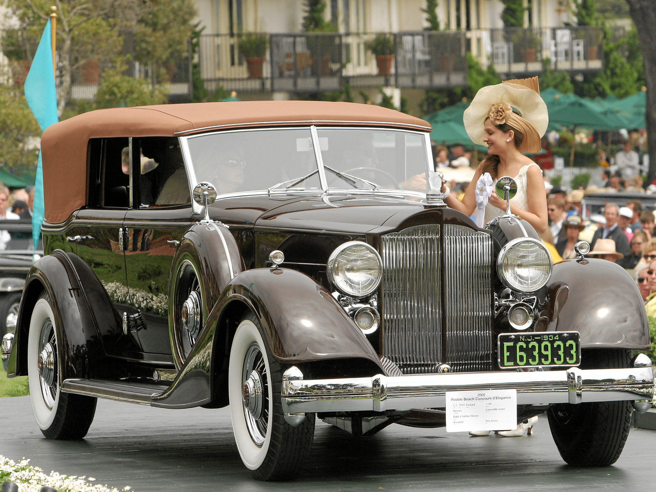 3rd Class C-2 (American Classic Open Custom Coachwork 1925-1941) 1934 Packard 1108 Dietrich Convertible Sedan owned by Ralph and Adeline Marano from Westfield, New Jersey