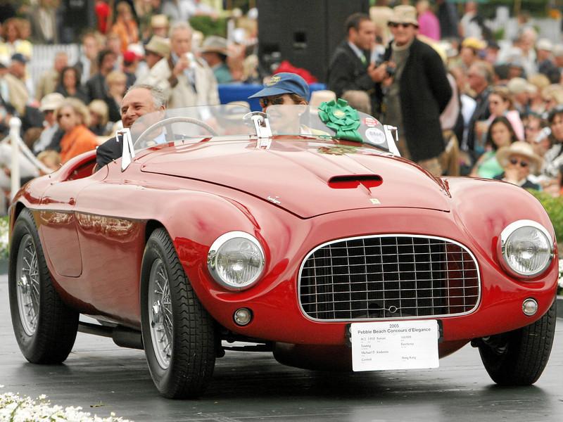 1950 Ferrari 166MM Touring Barchetta owned by Michael D. Kadoorie from Hong Kong 3rd Class M-2 (Ferrari Competition)