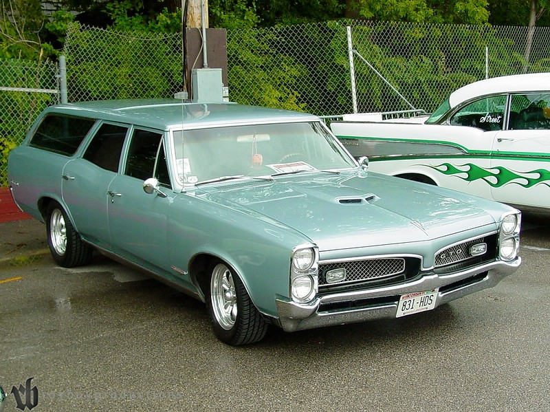 Adding a GTO front clip to a wagon makes for one cool wagon.