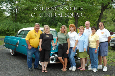 The Kruising Knights of Central Square did a royal job of staffing the check-in tent at the Syracuse Nationals picnic.  The Club President's car is pictured here (somewhat).