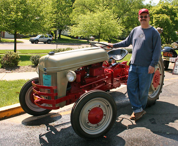 Cira 1941 Tractor and owner and operator Paul Jenkins.