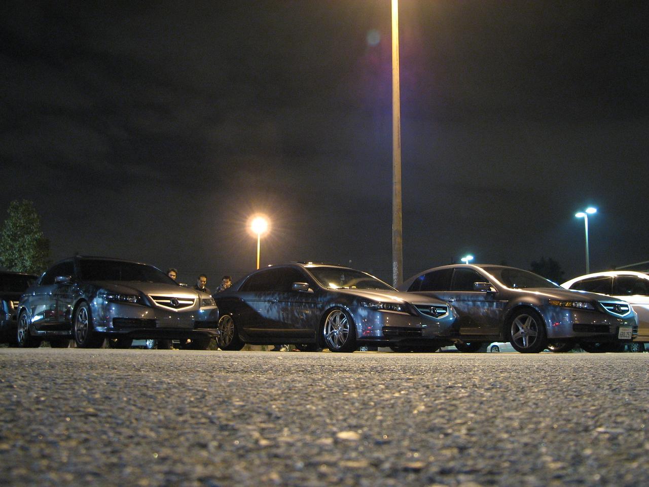 2008 02 01 Fri - Acurazine Buena Park meet - Three Anthracite 3G TL's 1