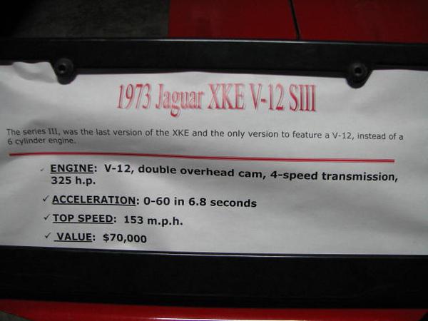 2008 06 10 Tue - 1973 Jaguar XKE V-12 SIII - desc