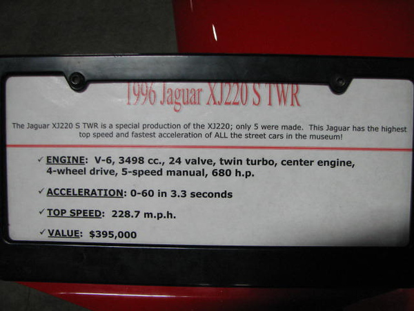 2008 06 10 Tue - 1996 Jaguar XJ220 S TWR - desc