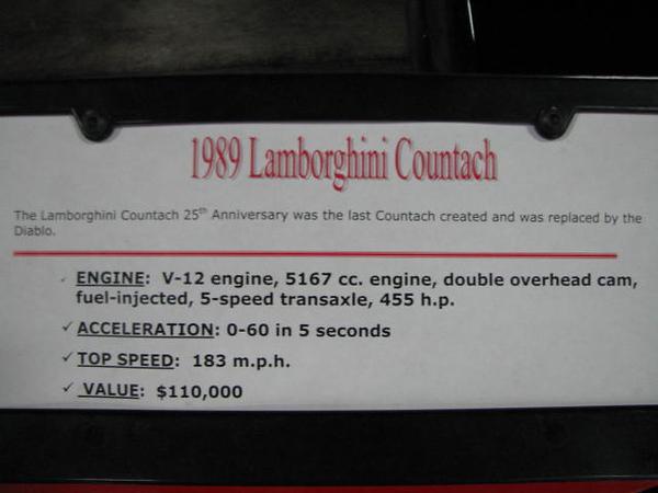 2008 06 10 Tue - 1989 Lamborghini Countach - desc