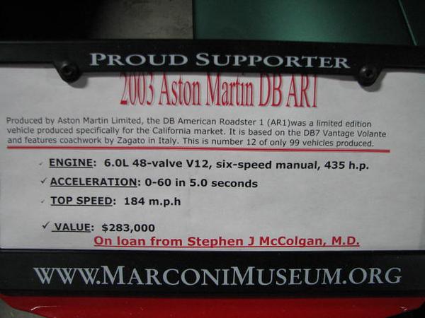 2008 06 10 Tue - 2003 Aston Martin DB AR1 - desc