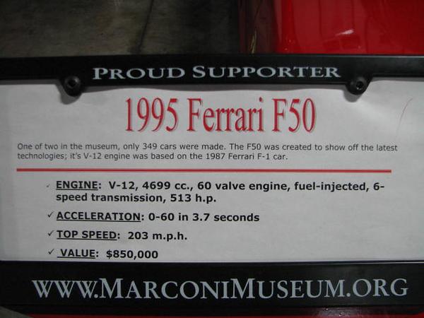 2008 06 10 Tue - 1995 Ferrari F50 Berlinetta - desc