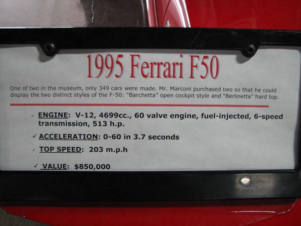 2008 06 10 Tue - 1995 Ferrari F50 Barchetta - desc