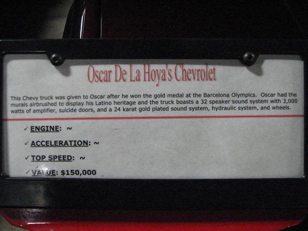 2008 06 10 Tue - Oscar De La Hoya's Chevy truck - desc