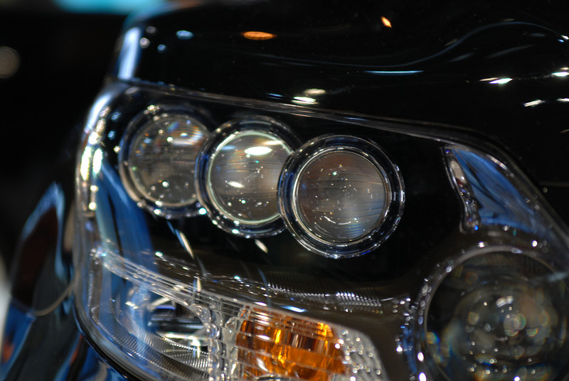Headlight from the 2009 Lexus LS 600H. At over $100K, this car has some serious luxury!
