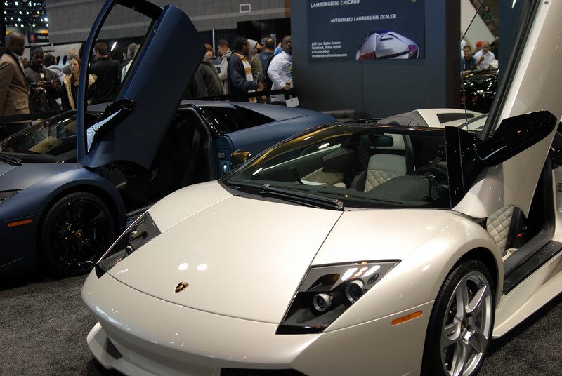 An auto show gallery without Lamborghinis wouldn't be complete.