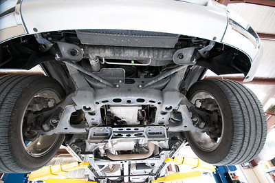 Ultra wide angle lens was used for these underbody shots, the tires a 255's all the way around.
