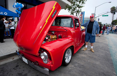 Car Show 012 - 9/12/2010: Grayson Taylor brought his 56 Ford Pickup, which he took five years to restore, to the Belmont Shore Car Show. mccormackphotgoraphy.com