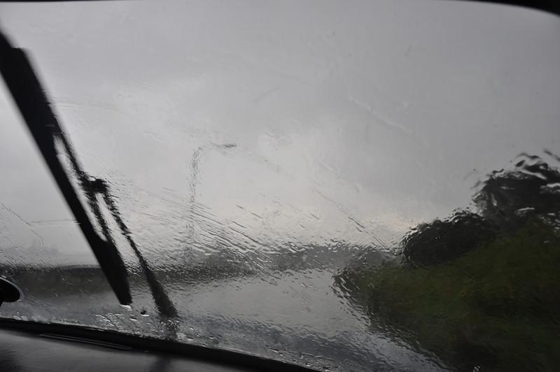 Net als in 2006: in IJmuiden gelijk regen onderweg naar huis