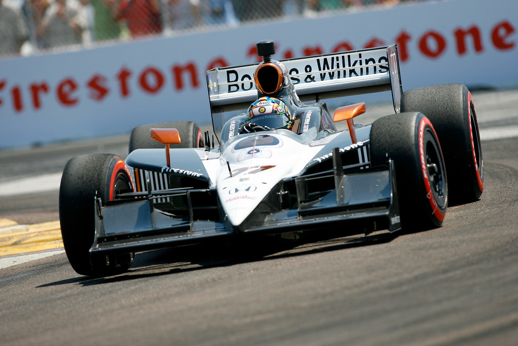 IZOD IndyCar driver Alex Tagliani of Sam Schmidt Motorsports (77) rounds turn #1 during Honda Grand Prix of St. Petersburg.