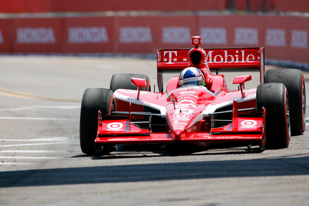 IZOD IndyCar driver Dario Franchitti of Target Chip Ganassi Racing (10) during the Honda Grand Prix of St. Petersburg.