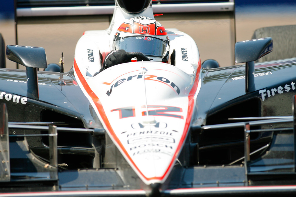 IZOD IndyCar driver Will Power of Team Penske (12) races down the track during the Honda Grand Prix of St. Petersburg.