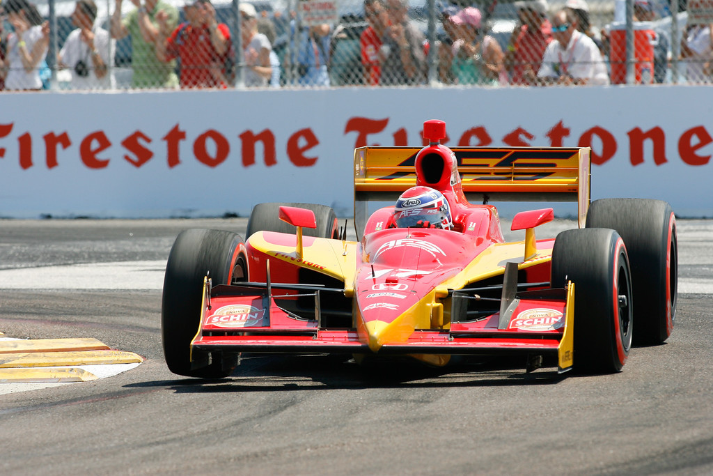 IZOD IndyCar driver Raphael Matos of AFS Racing (17) rounds turn #1 during the Honda Grand Prix of St. Petersburg.