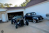 Jack's 29 and 40 waiting for the evening's guests for the party. His stock and hot rodded 30's sit in the garage.