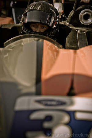 David Heinemeier Hansson in his #37 OAK-Morgan before the start of the 2012 ALMS Long Beach race.