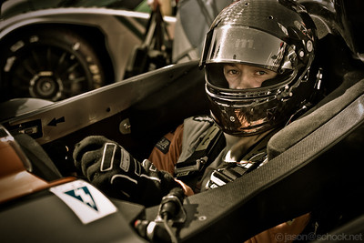 David Heinemeier Hansson in his Oak-Morgan before the start of the 2012 ALMS Long Beach race.