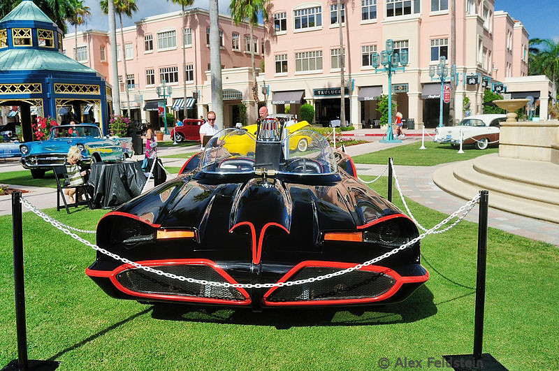 This is from a museum, showing it at a the car show in Boca Raton. It was the third Batmobile used in the 1960s TV show.